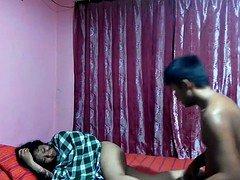 indonesian young couple having fun