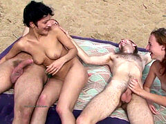 crazy outdoor gang sex of Russian amateurs