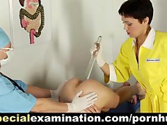 Complete gyno examination for sweet brunette teen babe