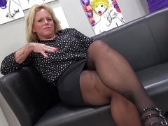 Kinky German mutter Gina playing with vagina