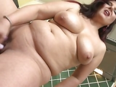 Plumpish housewife Marie Jeanne toying her pussy