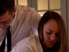 Strict Principles: Naughty Schoolgirl Spanked And Fucked