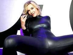 Sophia in catsuit