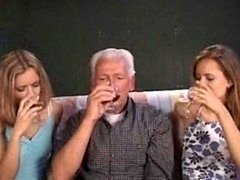 grandpa nailing 2 chicks