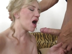 Taboo sex with old mom Janka and youthful boy