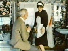 Mature Dude Jean Villroy gets a Blow Job From MaidWear-Tweed