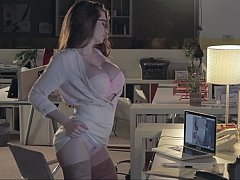 Office sex with ass obsessed worker