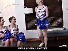 BFFS - Hot Cheer Babes Suck & Fuck Coach