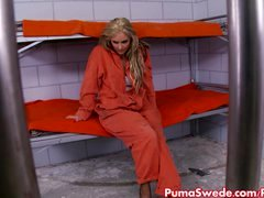 Puma Swede Destroys New Cellmate's Pussy!