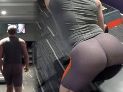 New shorts at the gym - right up my ass