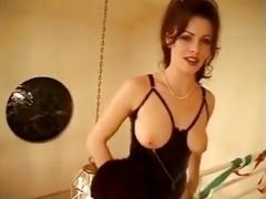 Whore wife fucks gang at home (Amazing tits)