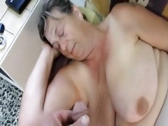 Wanking-off on her