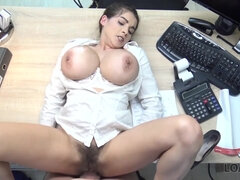 LOAN4K. Long-haired chick wants to earn money so why...
