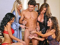 Four Ladies and one lucky guy!