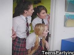 Teen Besties in After School Detention!