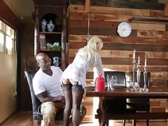 Blonde gal Bailey Brooke takes Nats sizeable and hard package
