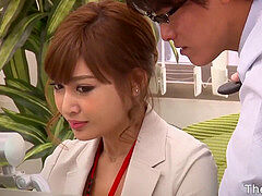 japanese office chick Asuka Kirara blackmailed and pummeled in the office