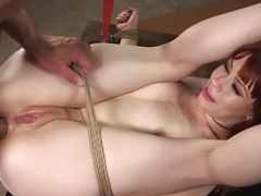 Caged bdsm sub freed for love hole fucking by dom