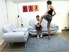 Young Man Gets His Number one Trample Experience By Tall Amazon