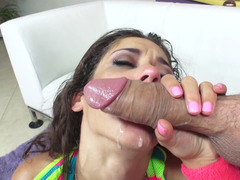 Anilingus and cunnilingus at first, deep dick sucking at last