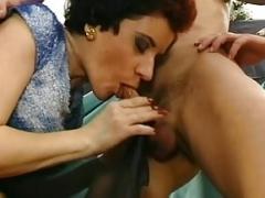Black Pantyhose Short Hair Frau