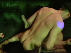 Male stripper fucking his dick into lascivious buddies
