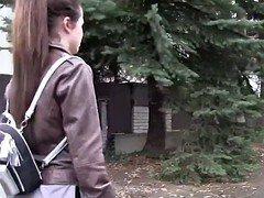 Russian 18-19 year old tourist fucks stranger in public
