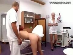Gyno Exam Of Milky Chick By Docto...