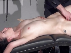 Gagged amateur slaves toy tyranny and plus spanked blowjobs