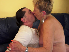 Plumpish blonde GILF gets rammed by a handsome Euro porn actor