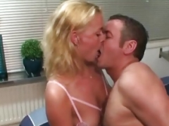 Dutch Blonde In Underwear Fucked