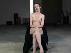 Tied whore caned on hands and feet