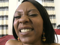 Ebony with large butt and furthermore tasty tits brings extras to horny fellow