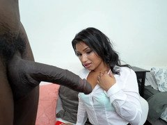 A black man that loves tiny horny latinas is fucking this one