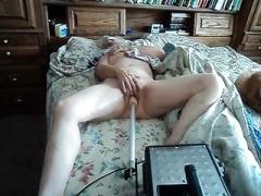 Wife admiring her fucking machine
