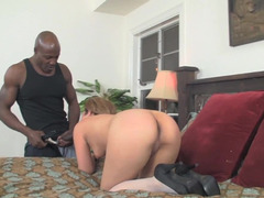 Huge black pecker for a hot blonde bitch in this interracial episode