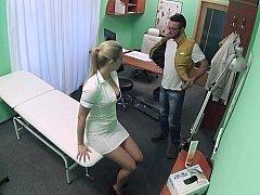 Lustful nurse prescribes her love hole