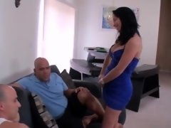 daddy and moreover uncle have an intercourse daughter