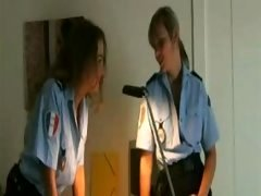 Excited Policewomen Get Crazy in Locker Room