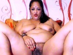 Indian Jasmine sizeable titties masturbating