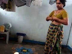 Desi with bushy armpit wears saree Corazon from 1fuckdatecom