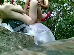Chinese wife outdoor sex