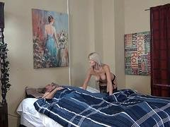 Hot Breasts Daughter Fucks Grandpa While Dad Is
