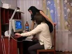 Russian hot aunt and besides young and fresh nephew - 1