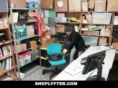 Shoplyfter - Record Stealing Legal teen Brutally Fucked