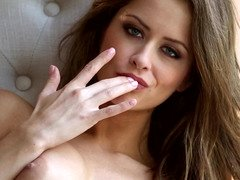 Brilliant pornography actress takes each and plus all clothes off and plus masturbates