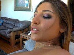 Perfect tush pornstar Abella Danger shows it off in close up