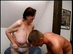 Immature Dude Fucks 70 Yo Ugly Obese Granny Oma