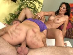 Babysitter eats out wife pussy as hubby fucks her pussy
