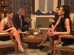 Brunett, Fransk, Grupp, Lesbisk